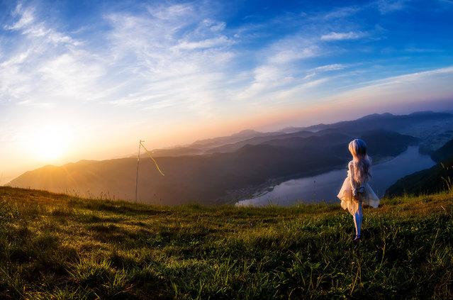 """Majestic Dawn"". Location: Kizakiko lake, Japan. (Photo and caption by AZURE)"