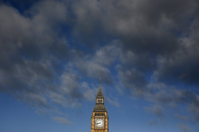 The Big Ben clock is seen during sunrise in London March 30, 2015. (Photo by Stefan Wermuth/Reuters)