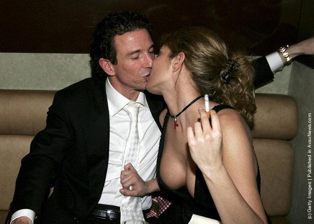 Oliver Berben kisses Florentine Lahme