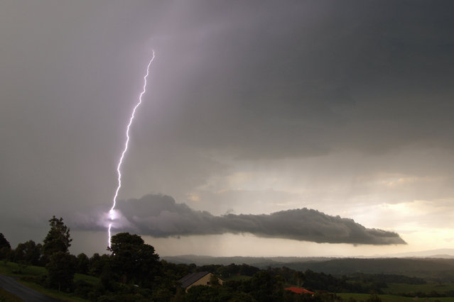 """Lightning Flash Photography"". Mcleans Ridges, New South Wales, Australia. (Photo by Michael Bath/Caters News)"