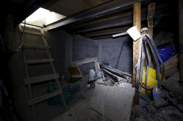 "A view of an area of a tunnel connected to the Altiplano Federal Penitentiary and used by drug lord Joaquin ""El Chapo"" Guzman to escape, in Almoloya de Juarez, on the outskirts of Mexico City, July 15, 2015. (Photo by Edgard Garrido/Reuters)"
