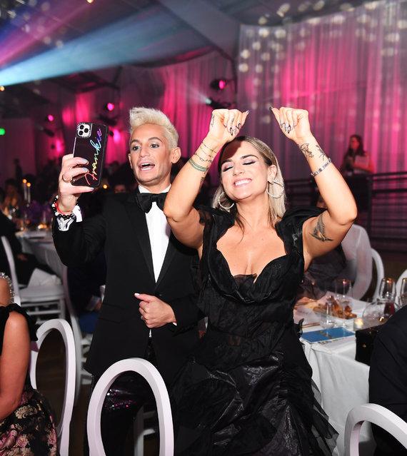 (L-R) Frankie Grande and JoJo attend the 2019 amfAR Gala Los Angeles at Milk Studios on October 10, 2019 in Los Angeles, California. (Photo by Ryan Emberley/amfAR/Getty Images for amfAR )