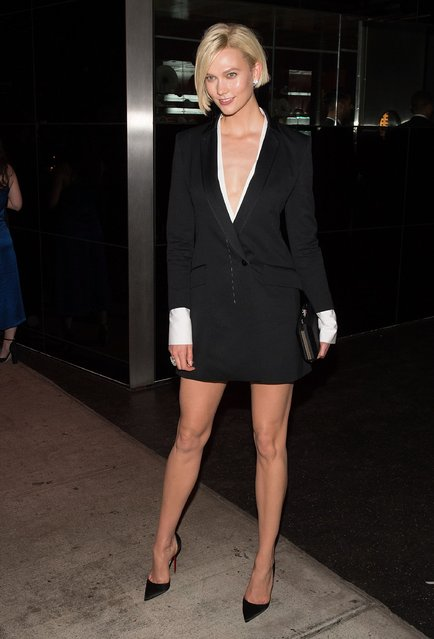 Karlie Kloss attends the Marc Jacobs afterparty of the Rei Kawakubo/Comme des Garcons: Art Of The In-Between Costume Institute Gala at the Boom Boom Room on May 1, 2017 in New York City. (Photo by Daniel Zuchnik/Getty Images)