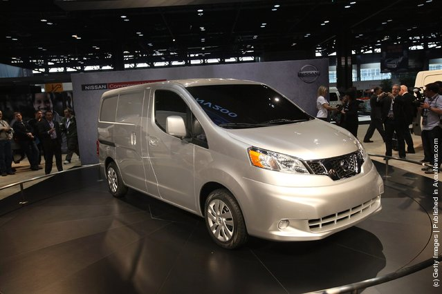 Nissan introduces the 2013 NV200 commercial van during the media preview of the Chicago Auto Show