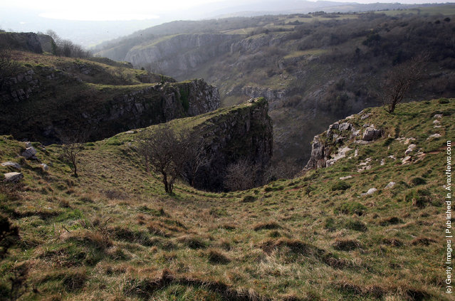 A general view of Cheddar Gorge