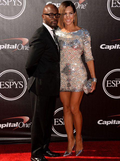 Actor Taye Diggs (L) and Amanza Smith Brown attend The 2014 ESPYS at Nokia Theatre L.A. Live on July 16, 2014 in Los Angeles, California. (Photo by Jason Merritt/Getty Images)