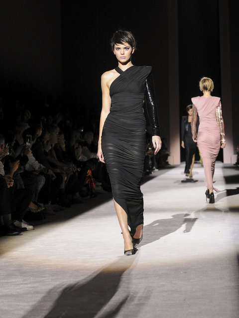 Kendall Jenner walks the runway at the Tom Ford Spring 2018 fashion show during New York Fashion Week, Wednesday, September 6, 2017. (Photo by Diane Bondareff/AP Photo)