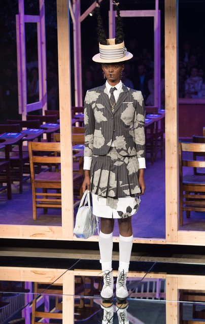 The Thom Browne Spring 2016 collection is modeled during Fashion Week Monday September 14, 2015, in New York. (Photo by Bryan R. Smith/AP Photo)