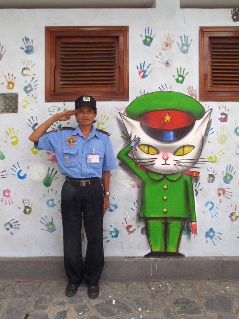 """Julien """"Seth"""" Malland – Les Nouveaux Explorateurs.  Festival Esperantopolis, Ho Chi Minh City 06/11. (Photo by Julien Malland)"""