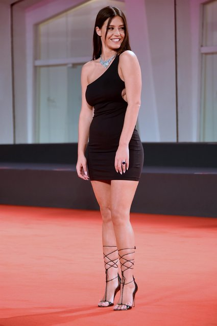 """French actress Adèle Exarchopoulos walks the red carpet ahead of the movie """"Mandibules"""" at the 77th Venice Film Festival on September 05, 2020 in Venice, Italy. (Photo by Alberto Terenghi/IP/Rex Features/Shutterstock)"""