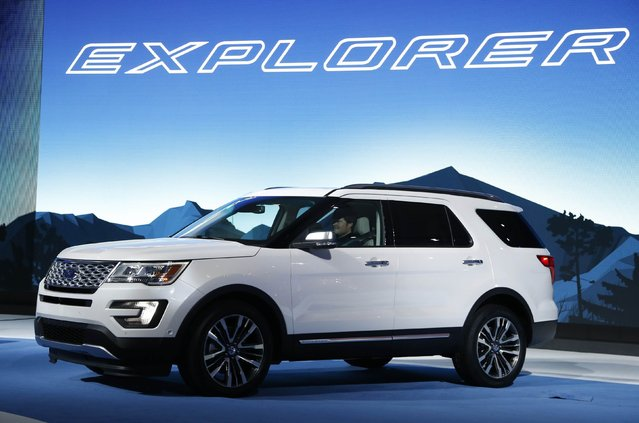 The 2016 Ford Explorer is shown during the model's world debut at the Los Angeles Auto Show in Los Angeles, California November 19, 2014. (Photo by Lucy Nicholson/Reuters)