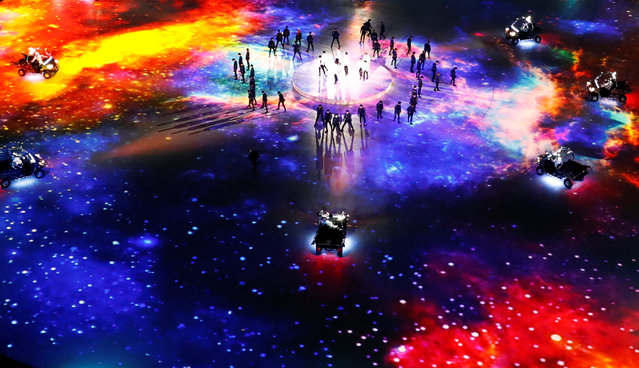 Artists perform during the closing ceremony of the PyeongChang Winter Olympic Games at the Olympic Stadium in Pyeongchang, South Korea, on February 25, 2018. (Photo by Pawel Kopczynski/Reuters)