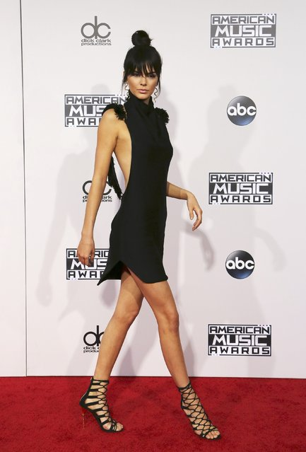 Model Kendall Jenner arrives at the 2015 American Music Awards in Los Angeles, California November 22, 2015. (Photo by David McNew/Reuters)