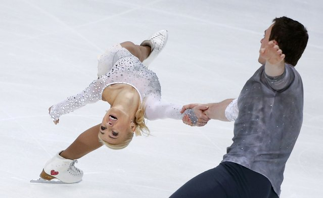 Figure Skating, ISU Grand Prix Rostelecom Cup 2016/2017, Pairs Free Skating in Moscow, Russia on November 5, 2016. Aliona Savchenko and Bruno Massot of Germany compete. (Photo by Grigory Dukor/Reuters)