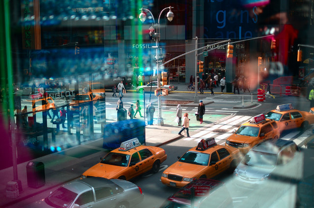"""New York reflections"". Street view with window reflections at the Manhattan island, New York, USA.  (Photo and caption by Elena Petrova/National Geographic Traveler Photo Contest)"
