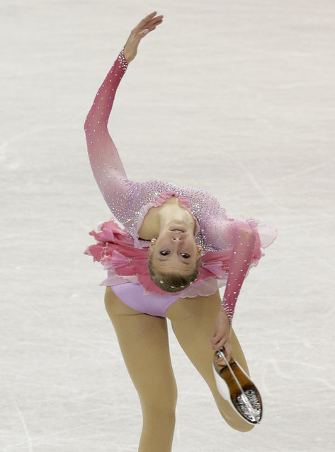 Polina Edmunds performs during the women's free skate program at the U.S. Figure Skating Championships in Greensboro, N.C., Saturday, January 24, 2015. (Photo by Chuck Burton/AP Photo)