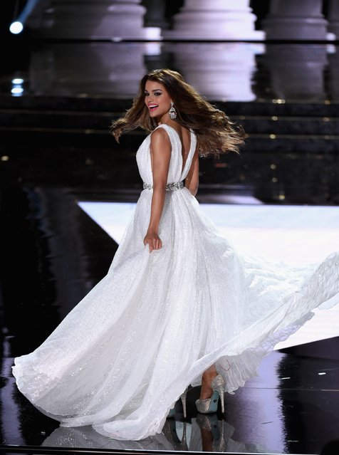 Miss Dominican Republic 2015, Clarissa Molina, competes in the evening gown competition during the 2015 Miss Universe Pageant at The Axis at Planet Hollywood Resort & Casino on December 20, 2015 in Las Vegas, Nevada. (Photo by Ethan Miller/Getty Images)
