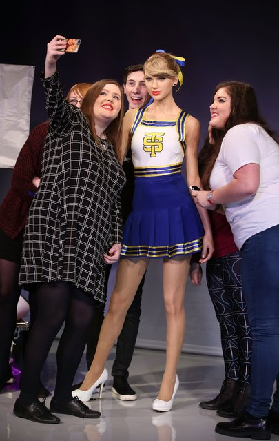 A wax figure of Taylor Swift is unveiled at Madame Tussauds on February 10, 2015 in London, England. (Photo by Tim P. Whitby/Getty Images)