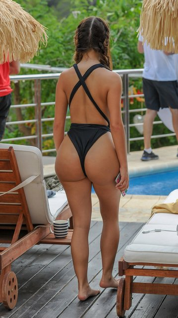 The social media star Demi Rose, 23, posed for a sizzling new photoshoot to promote her new swimwear line in Ibiza, Spain on Monday, August 13, 2018. (Photo by KP Pictures)