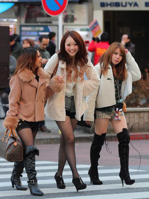 """Shibuya, in triplicate"". Shibuya, 2012. (Asian (Street) Impressions)"