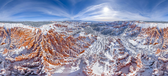 Bryce Canyon National Park, Utah. (Photo by Airpano/Caters News)