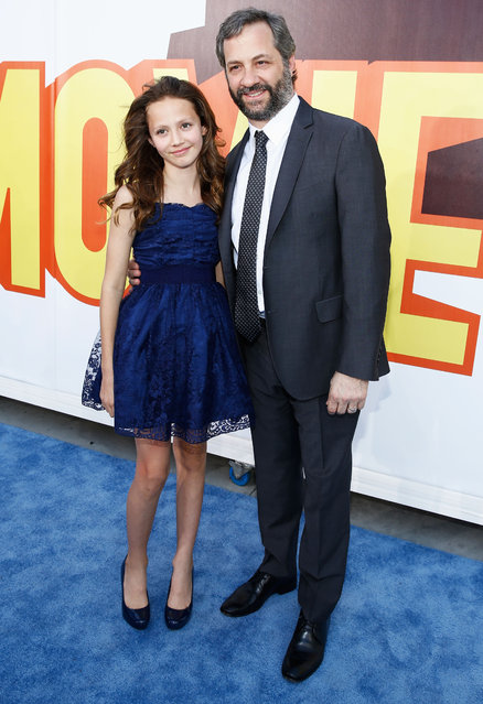 Producer Judd Apatow (R) and Iris Apatow attend The 2015 MTV Movie Awards at Nokia Theatre L.A. Live on April 12, 2015 in Los Angeles, California. (Photo by Rich Polk/Getty Images for MTV)