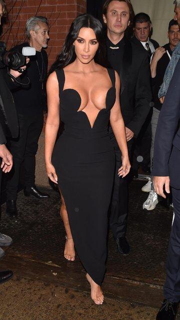 Kim Kardashian attends the 2019 amfAR New York Gala at Cipriani Wall Street on February 06, 2019 in New York City. (Photo by The Mega Agency)