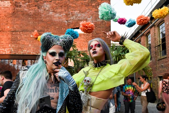 """Revellers attend drag extravaganza """"Bushwig"""" that was cancelled last year due to the coronavirus disease (COVID-19) pandemic in New York City, New York, U.S., September 12, 2021. (Photo by Stephanie Keith/Reuters)"""