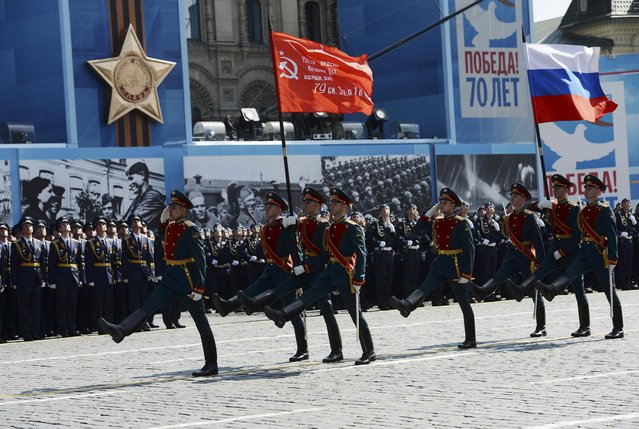 Russian servicemen march during the Victory Day parade at Red Square in Moscow, Russia, May 9, 2015. (Photo by Reuters/Host Photo Agency/RIA Novosti)