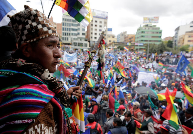 Supporters of Bolivia's President Evo Morales attend a rally in La Paz, Bolivia, February 21, Bolivia, 2017. (Photo by David Mercado/Reuters)