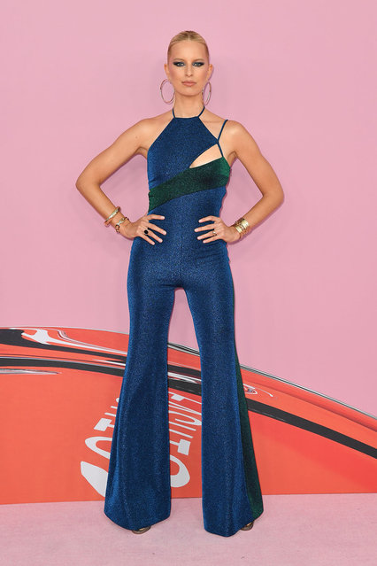 Czech model Karolina Kurkova arrives for the 2019 CFDA fashion awards at the Brooklyn Museum in New York City on June 3, 2019. (Photo by Angela Weiss/AFP Photo)