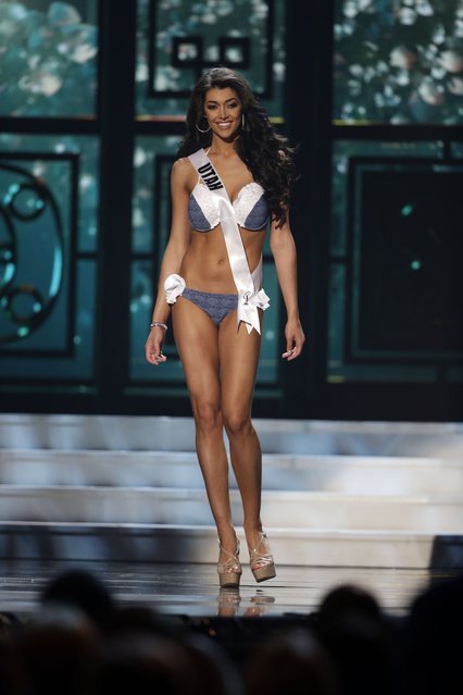 Miss Utah, Nicol Powell, competes in the bathing suit competition during the preliminary round of the 2015 Miss USA Pageant in Baton Rouge, La., Wednesday, July 8, 2015. (Photo by Gerald Herbert/AP Photo)