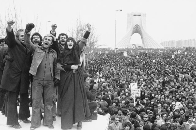 In this January 19, 1979 file photo, more than a million supporters of an Islamic Republic assembled around the Shayad monument, in Tehran, Iran. Wednesday, Jan. 16, 2019 marks the 40th anniversary of the shah abandoning his Peacock Throne and leaving his nation for the last time in his life, setting the stage for the country's 1979 Islamic Revolution only a month later. (Photo by Aristotle Saris/AP Photo)