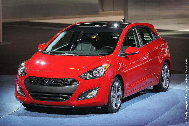 Hyundai introduces the 2013 Elantra GT during the media preview of the Chicago Auto Show at McCormick Place