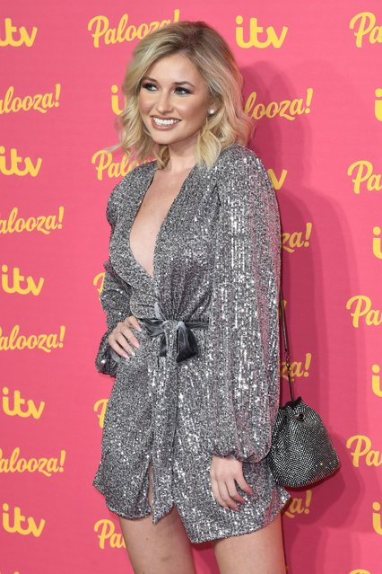 Amy Hart attends the ITV Palooza 2019 at The Royal Festival Hall on November 12, 2019 in London, England. (Photo by Anthony Harvey/Rex Features/Shutterstock)