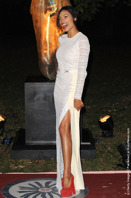 Rosario Dawson attends the annual garden party to commemorate the fundraising work of Raisa Gorbachev at Stud House, Hampton Court