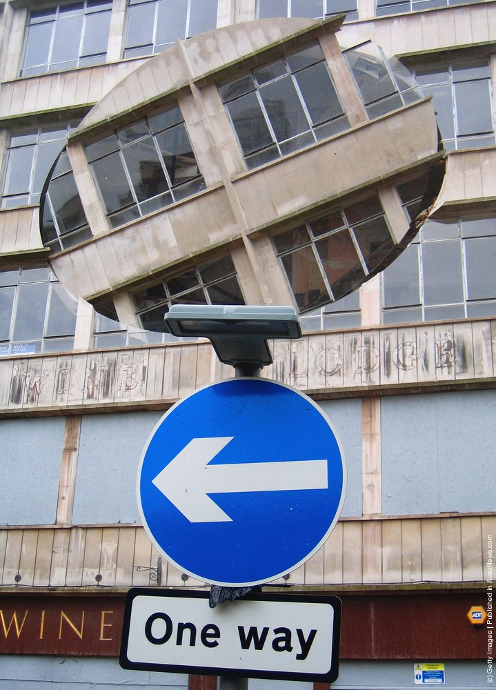 """""""Turning the Place Over"""" by Artist Richard Wilson"""