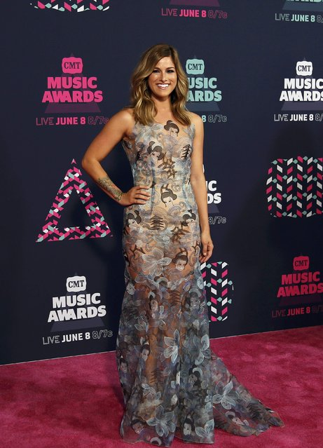 Singer Cassadee Pope arrives at the 2016 CMT Music Awards in Nashville, Tennessee U.S. June 8, 2016. (Photo by Jamie Gilliam/Reuters)