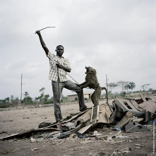 Alhaji Hassan with Ajasco, Ogere-Remo, Nigeria 2007