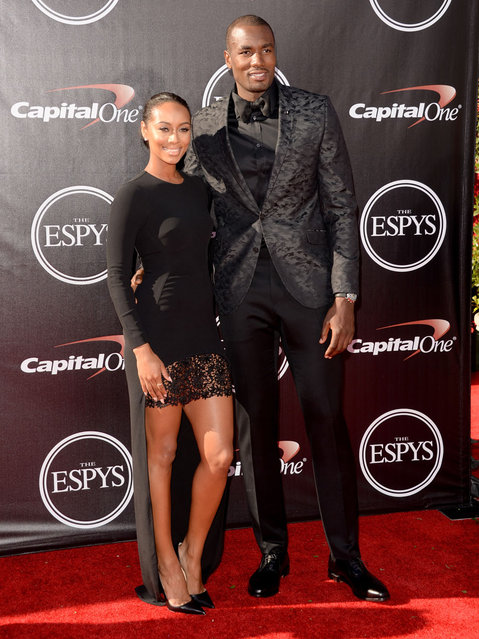 Singer Keri Hilson and professional basketball player Serge Ibaka attend The 2014 ESPYS at Nokia Theatre L.A. Live on July 16, 2014 in Los Angeles, California. (Photo by Jason Merritt/Getty Images)