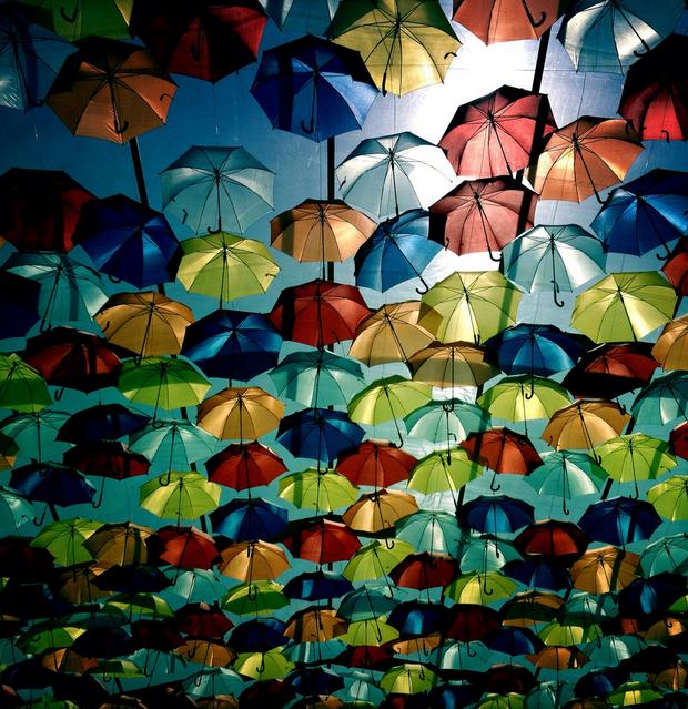 Umbrella Sky In Agueda, Portugal