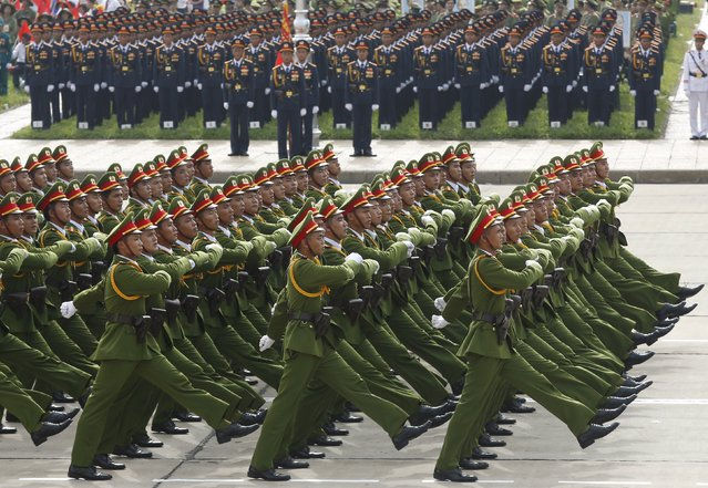 Policemen march during a parade marking their 70th National Day at Ba Dinh square in Hanoi, Vietnam September 2, 2015. (Photo by Reuters/Kham)