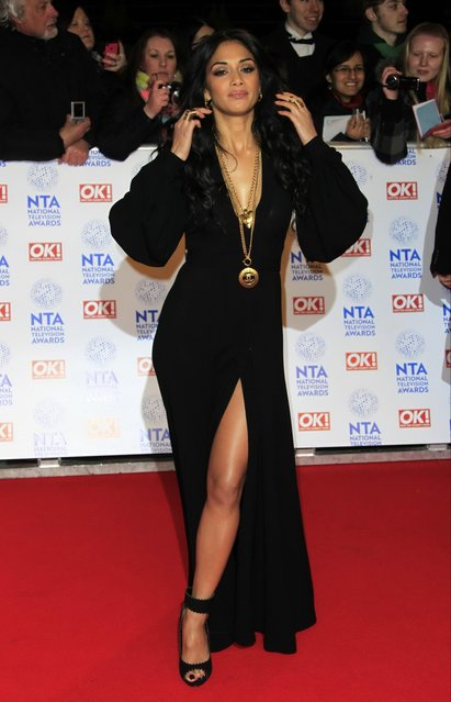Nicole Scherzinger seen at the National Television Awards at the o2 Arena in London, UK on Wednesday, January 23, 2013. (Photo by Joel Ryan/AP Photo/Invision)