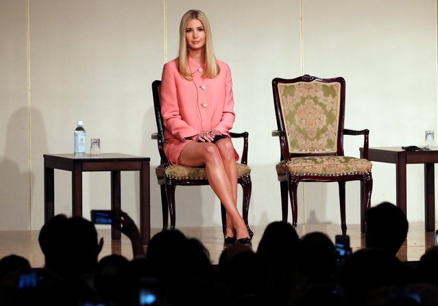 Ivanka Trump, the daughter and advisor to U.S. President Donald Trump, delivers a speech at World Assembly for Women: WAW! 2017 conference in Tokyo Friday, November 3, 2017. (Photo by Eugene Hoshiko/AP Photo)
