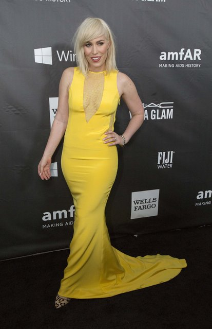Singer Natasha Bedingfield poses at amfAR's Fifth Annual Inspiration Gala in Los Angeles, California October 29, 2014. (Photo by Mario Anzuoni/Reuters)