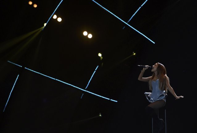 Singer Ariana Grande performs during the 2014 MTV Europe Music Awards at the SSE Hydro Arena in Glasgow, Scotland, November 9, 2014. (Photo by Toby Melville/Reuters)
