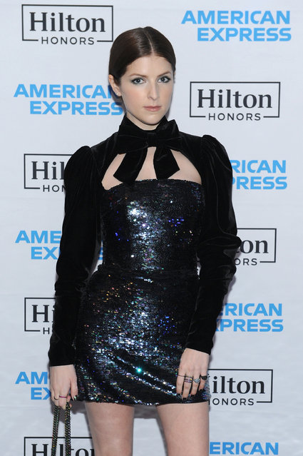 Actor Anna Kendrick enjoys a unique experience at the Hilton and American Express event at the Conrad New York on January 30, 2018 in New York City. (Photo by Craig Barritt/Getty Images for American Express)