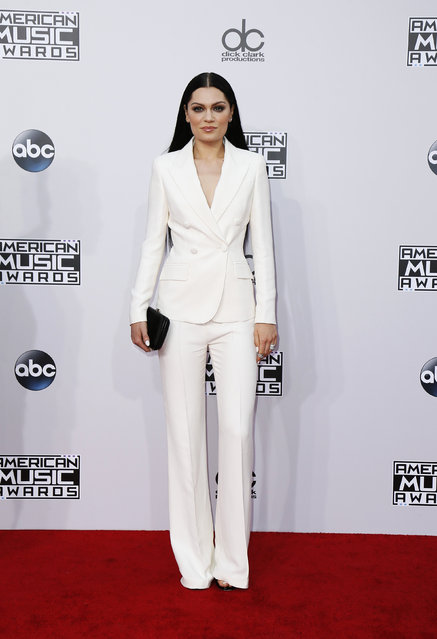 Singer Jessie J arrives at the 42nd American Music Awards in Los Angeles. (Photo by Danny Moloshok/Reuters)