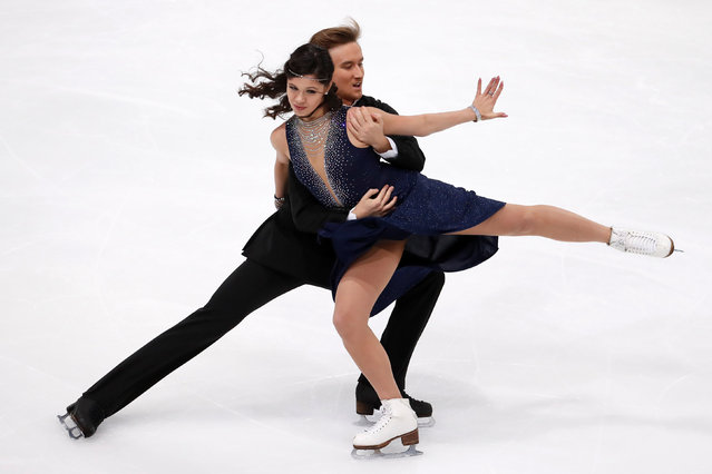Figure Skating, ISU Grand Prix of Figure Skating Trophee de France 2016/2017, Ice Dance Short Dance, Paris, France on November 11, 2016. Elena Ilinykh and Ruslan Zhiganshin of Russia compete. (Photo by Charles Platiau/Reuters)