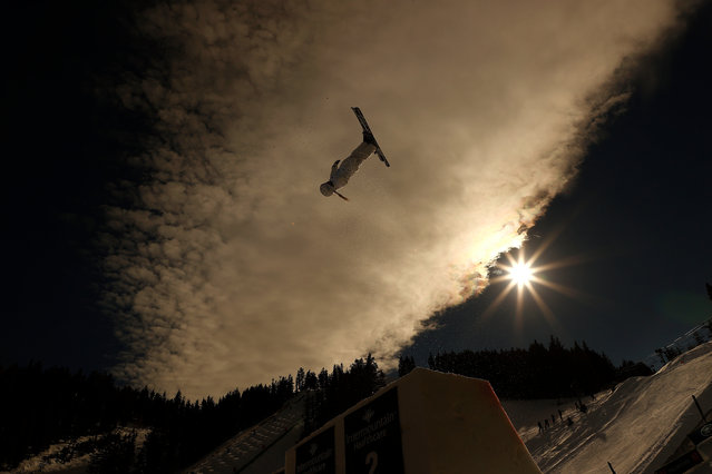 Danielle Scott of Australia during a training run for the Woman's Aerial Finals during the 2021 Intermountain Healthcare Freestyle International Ski World Cup at Deer Valley Resort on February 06, 2021 in Park City, Utah. (Photo by Gregory Shamus/Getty Images)
